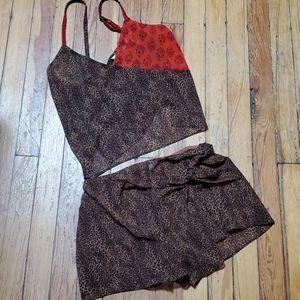 🦕3/$10 VS Leopard Cami & Shorts Sleep Set